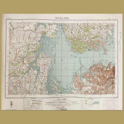 New Zealand: Map Of Auckland City And Waitemata Harbour