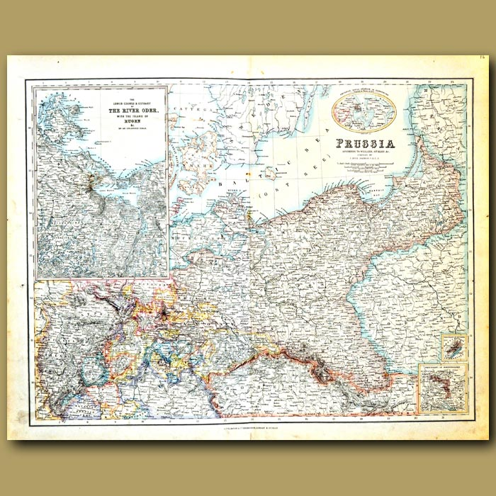 Antique print. Map Of Prussia