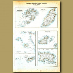 Map Of Channel Islands, Scilly Islands And Isle Of Man