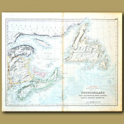 Map Of Canada Around Gulf Of St Lawrence