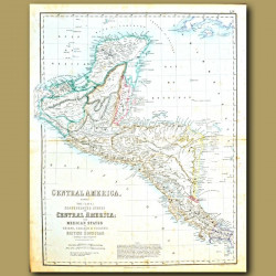 Map Of Confederated States Of Central America