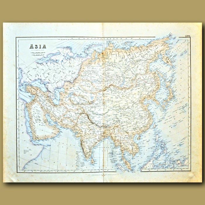 Antique print. Map Of Asia