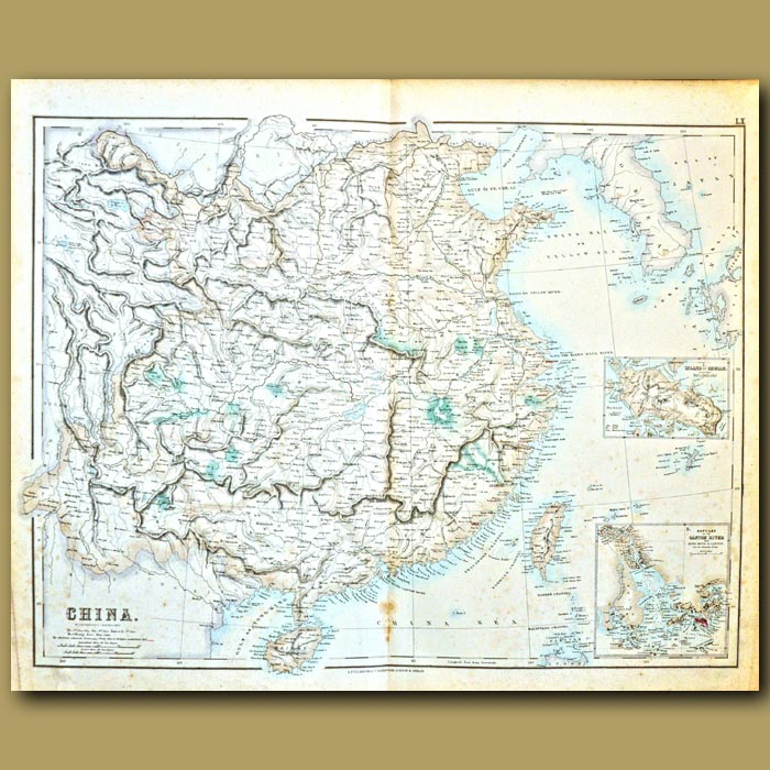 Antique print. Map Of China