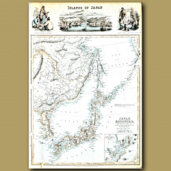 Map Of Islands Of Japan