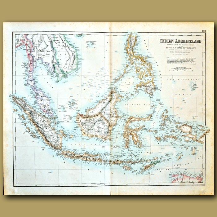 Antique print. Map Of East Indian Archipelago