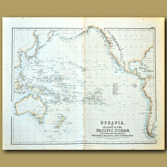 Antique print. Oceania, or Islands In The Pacific Ocean