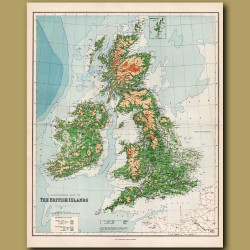 Orographical Map Of The British Islands