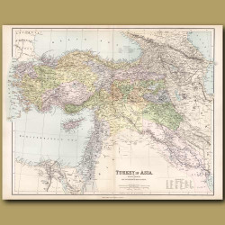 Map Of Turkey In Asia
