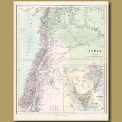 Map Of The Holy Land, Sinai Peninsula And Syria