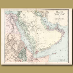 Map Of Arabia, The Red Sea And The Valley Of The Nile