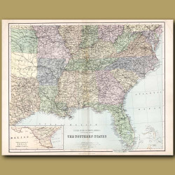 Map Of United States Of North America: Southern States