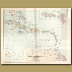 Map Of West India Islands And British Guiana