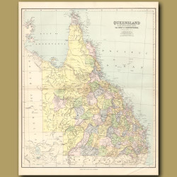 Map Of Queensland And The Gulf Of Carpentaria