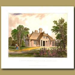 Peasant's cottage or gamekeeper's lodge in beautiful gardens