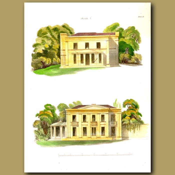 Antique print. Grecian lodge