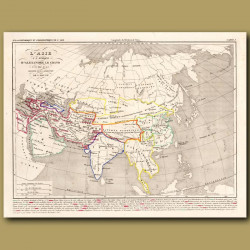 Map of Asia at the time of Alexander the Great
