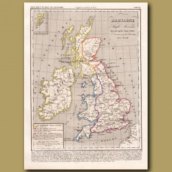 Map of Britain, Kingdom of Anglo Saxons 600 AD