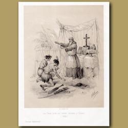 Las Cazas founding a colony of Indians