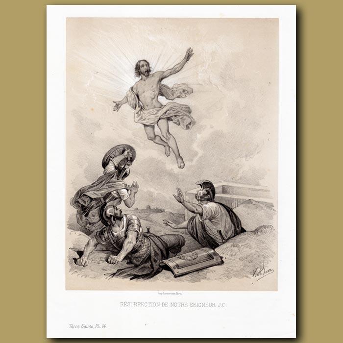 Antique print. The Resurrection of Christ