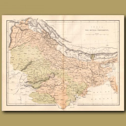 Map Of India - The Bengal Presidency