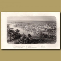 Birds eye view of Lucknow and the country towards Cawnpore