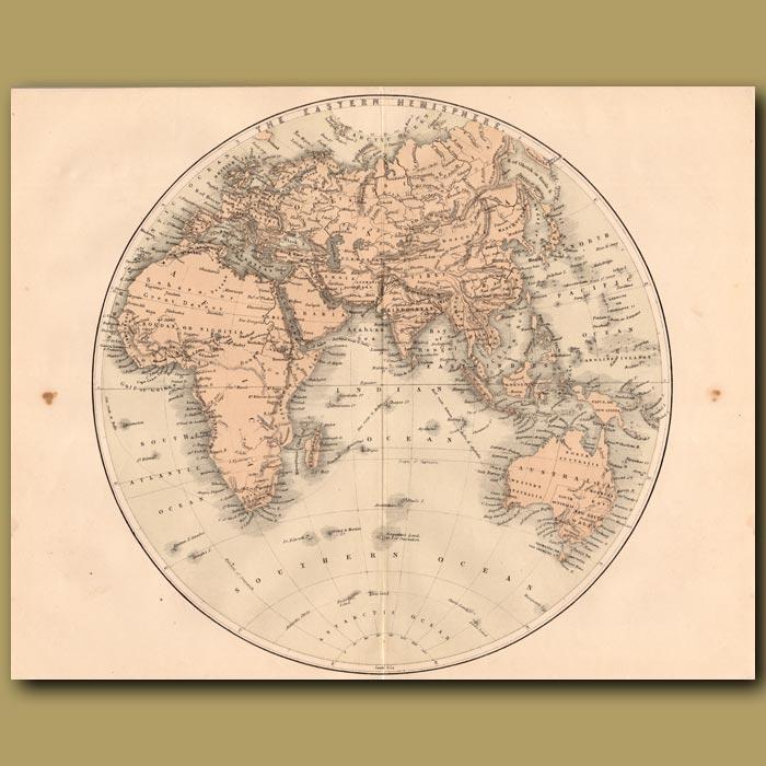 Antique print. Map of the Eastern Hemisphere