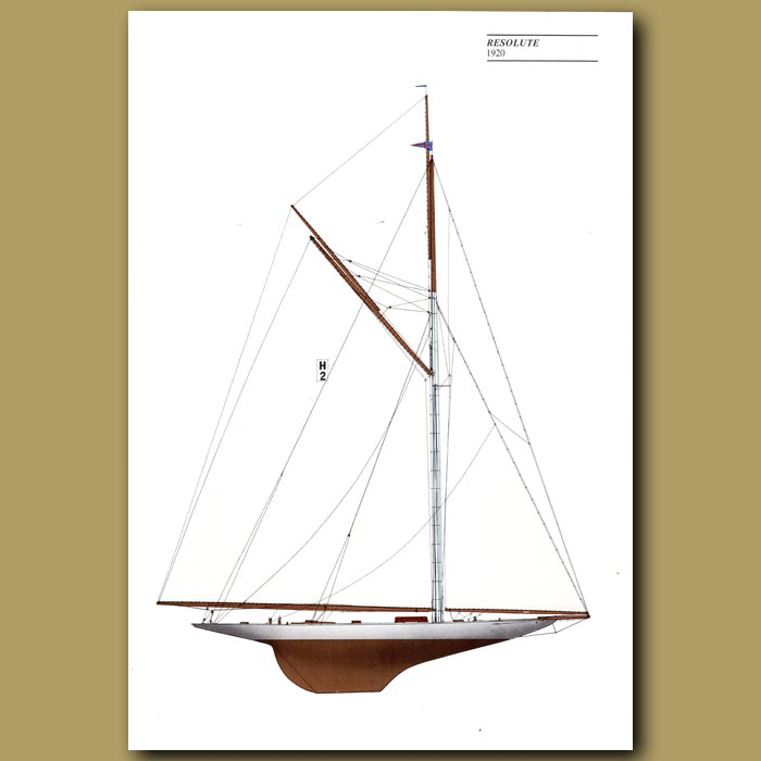Antique print. America's Cup yacht: Resolute 1920