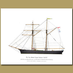 The Two Masted Topsail Schooner 'Kate'