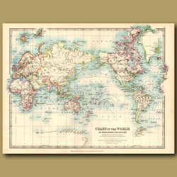 Chart Of The World On Mercator's Projection
