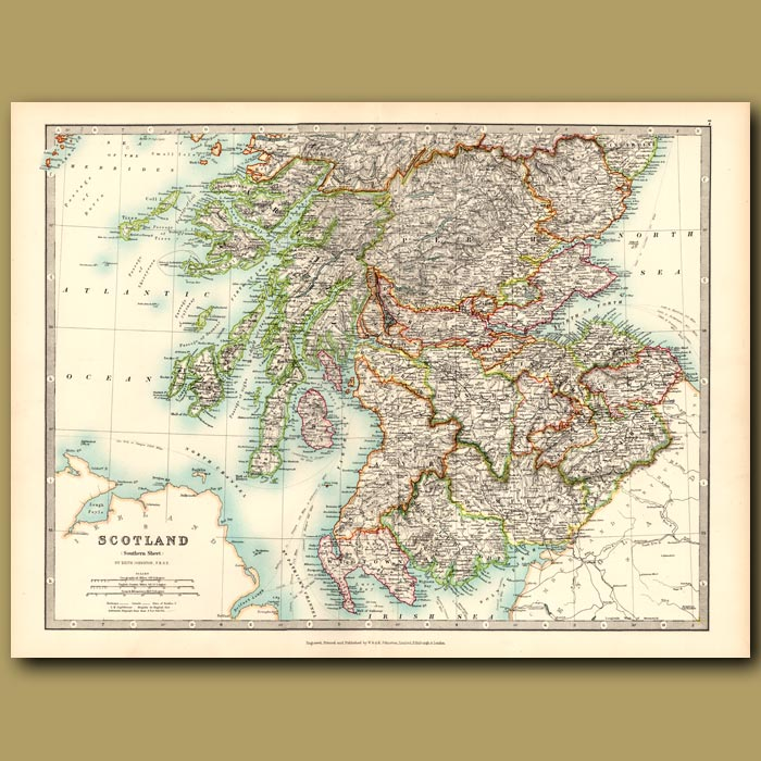Antique print. Scotland