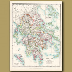 Greece With An Inset Of The Cyclades Islands