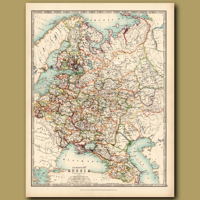 Antique print. European Russia