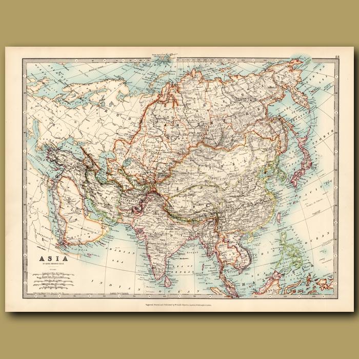 Antique print. Asia