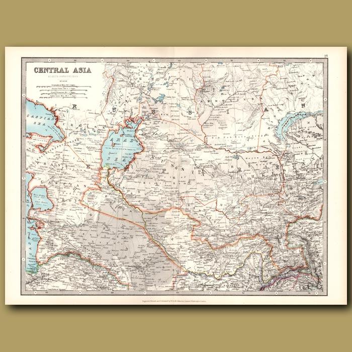 Antique print. Central Asia