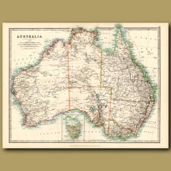 Australia With An Inset Of Tasmania
