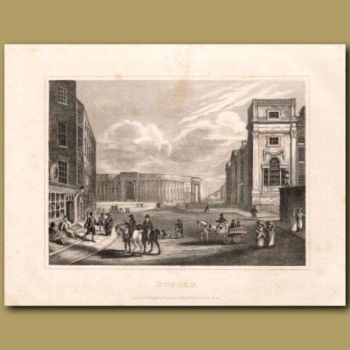 Antique print. Dublin