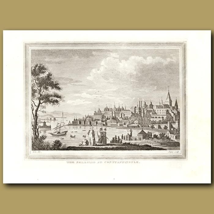 Antique print. The Seraglio At Constantinople