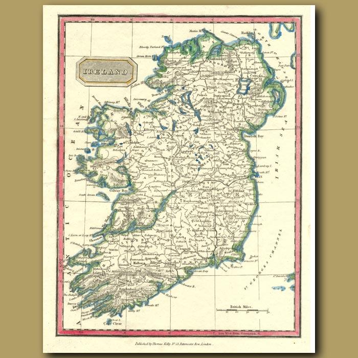 Antique print. Map Of Ireland