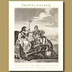 The Four Quarters Of The World Presenting Their Various Stores To Britannia Who Is Seated On A Rock