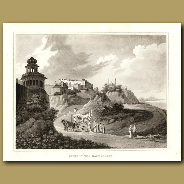 Antique print. Scene In The East Indies