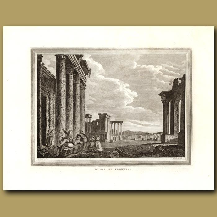 Antique print. Ruins Of Palmyra
