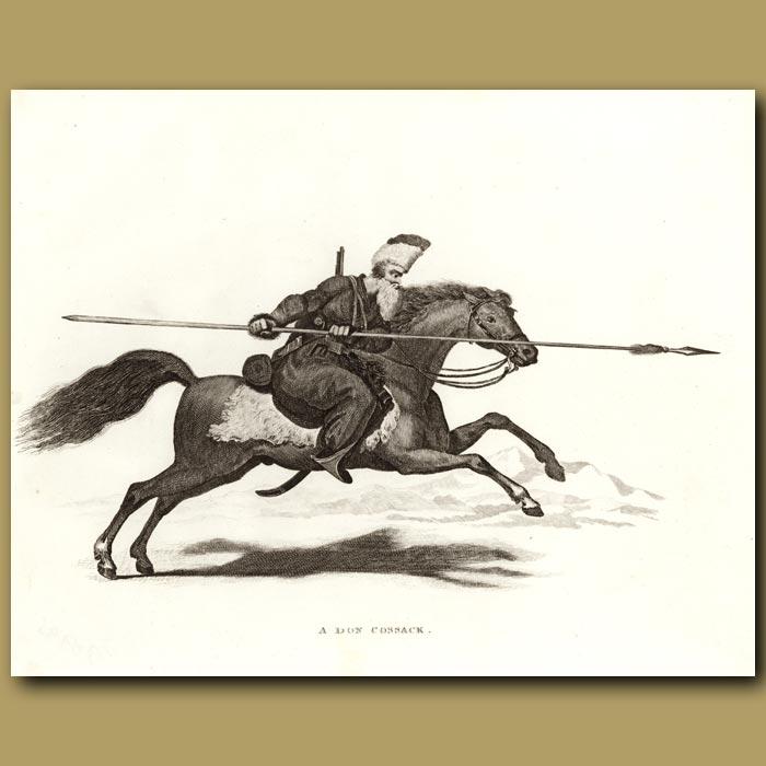 Antique print. A Don Cossack