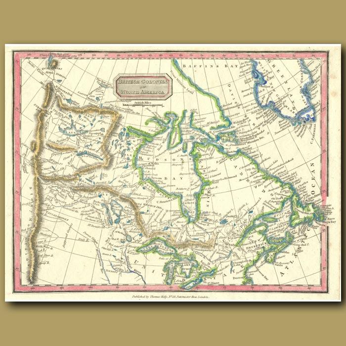 Antique print. Map Of British Colonies Of North America