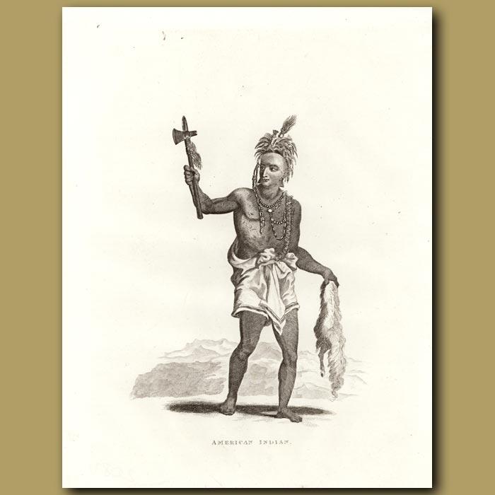 Antique print. American Indian