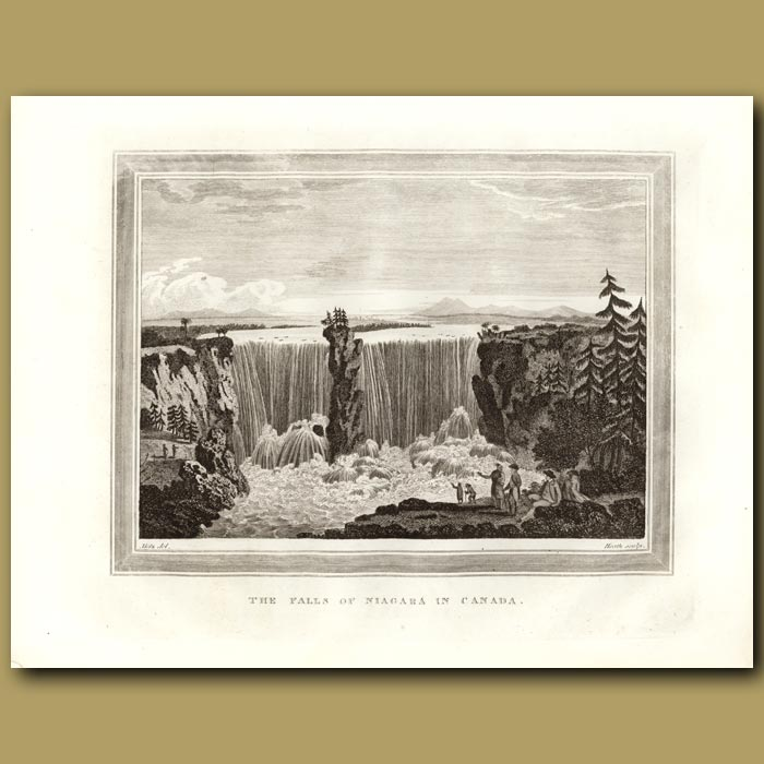 Antique print. The Falls Of Niagra In Canada