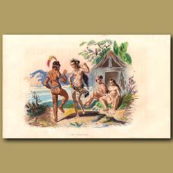Tattooed People Of Nuka Hiva In The Marquesas Islands, French Polynesia