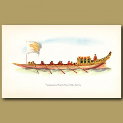 The Royal Barge Of Frederick, Prince Of Wales, Built 1732