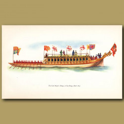 Lord Mayor's Barge Or City Barge, Built 1807