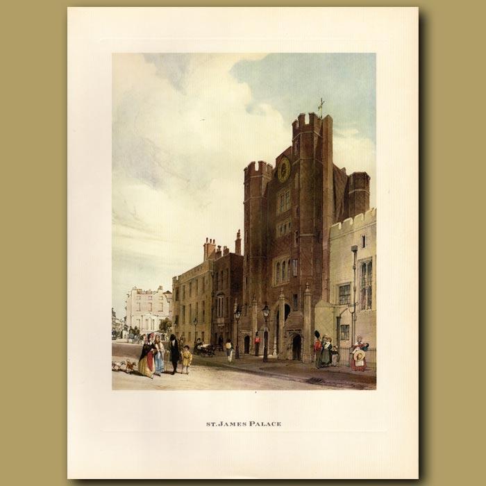 Antique print. St James Palace
