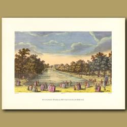 St.James Park and Buckingham House